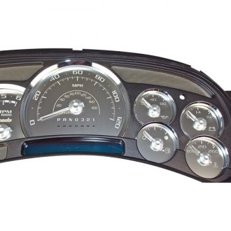 US Speedo® - Stainless Steel Gauge Face Kit with White Numbers, 120 MPH