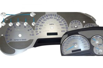 US Speedo® SSGM20B - Stainless Steel Blue Night Gauge Face Kit