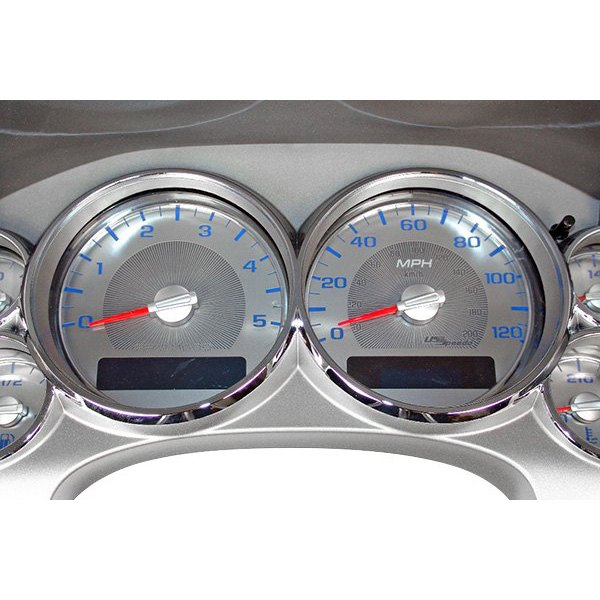 US Speedo® - Stainless Steel Blue Night Gauge Face Kit