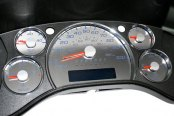 US Speedo® - Stainless Steel Gauge Face Kit with Blue Numbers, 100 MPH