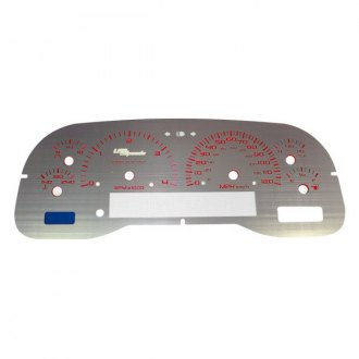 US Speedo® - Stainless Steel Red Night Gauge Face Kit