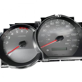 US Speedo® - Stainless Steel Gauge Face Kit with White Numbers, 120 MPH and 7000 RPM