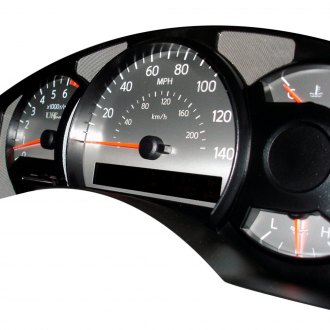 US Speedo® - Stainless Steel Gauge Face Kit with White Numbers, 140 MPH and 7000 RPM