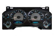 Image may not reflect your exact vehicle! US Speedo® - Stealth Edition Gauge Face Kit - Lights Turn On