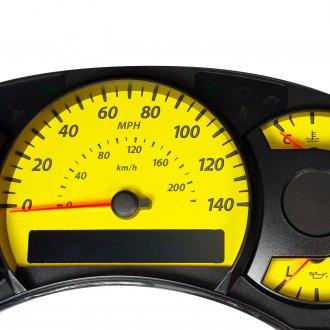 US Speedo® - Daytona Edition Yellow Gauge Face Kit with Amber Night Lettering Color, 140 MPH 7000 RPM