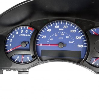 US Speedo® - Daytona Edition Blue Gauge Face Kit with Amber Night Lettering Color, 140 MPH 7000 RPM