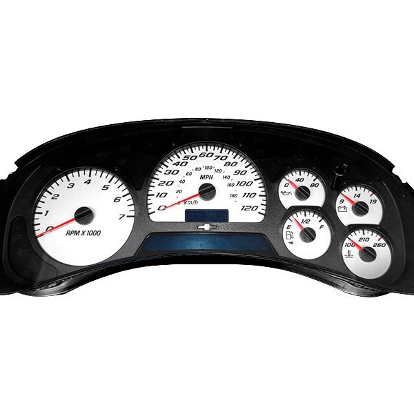 US Speedo® - Daytona Edition Gauge Face Kits with Blue Night Lettering Color