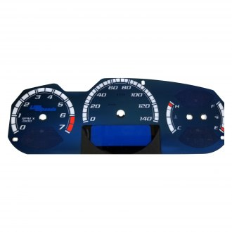 US Speedo® - Aqua Edition Gauge Face Kit, 140 MPH, 7000 RPM
