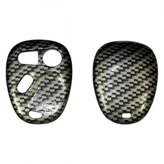 US Speedo® - Silver Carbon Fiber Designer Key Fob Case (3 Buttons)