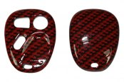 US Speedo® - Red Carbon Fiber Designer Key Fob Case (3 Buttons)
