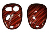 US Speedo® - Orange Carbon Fiber Designer Key Fob Case (3 Buttons)