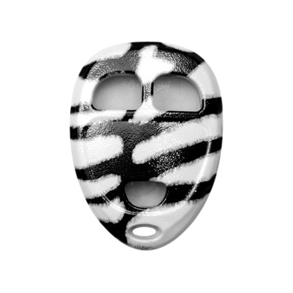 US Speedo® - Zebra Print 3 Buttons Designer Key Fob Case
