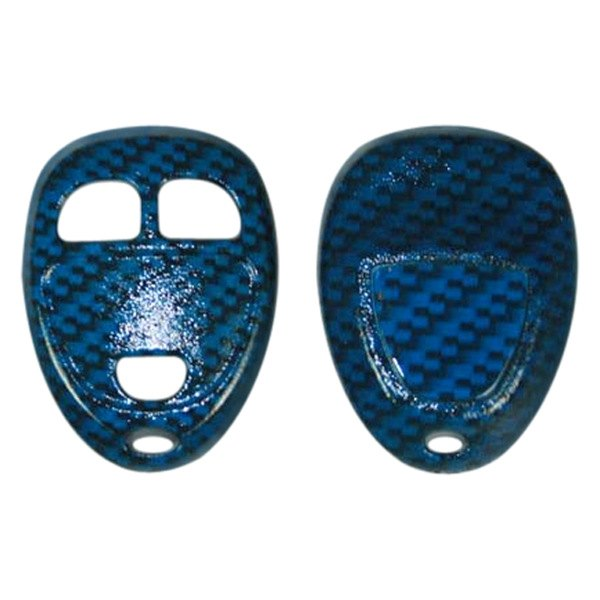US Speedo® - Blue Carbon Fiber Designer Key Fob Case (3 Buttons)
