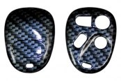 US Speedo® - Black Carbon Fiber Designer Key Fob Case (4 Buttons)