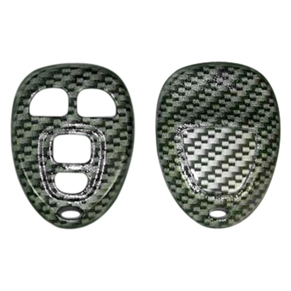 US Speedo® - Silver Carbon Fiber Designer Key Fob Case (4 Buttons)
