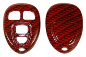 US Speedo® - Red Carbon Fiber 4 Buttons Designer Key Fob Case
