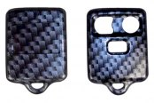 US Speedo® - Black Carbon Fiber 3 Buttons Designer Key Fob Case with Battery in Back Cover