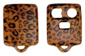 US Speedo® - Leopard Skin 3 Buttons Designer Key Fob Case with Battery in Back Cover