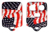 US Speedo® - American Flag 3 Buttons Designer Key Fob Case with Battery in Back Cover