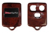 US Speedo® - Burlwood Woodgrain 3 Buttons Designer Key Fob Case with Battery in Back Cover