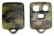 US Speedo® - Mossy Oak Camo 3 Buttons Designer Key Fob Case with Battery in Back Cover