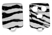 US Speedo® - Zebra Print 3 Buttons Designer Key Fob Case with Battery in Back Cover