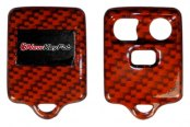 US Speedo® - Orange Carbon Fiber 3 Buttons Designer Key Fob Case with Battery in Back Cover