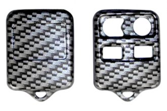 US Speedo® 21040002 - Silver Carbon Fiber 4 Buttons Designer Key Fob Case