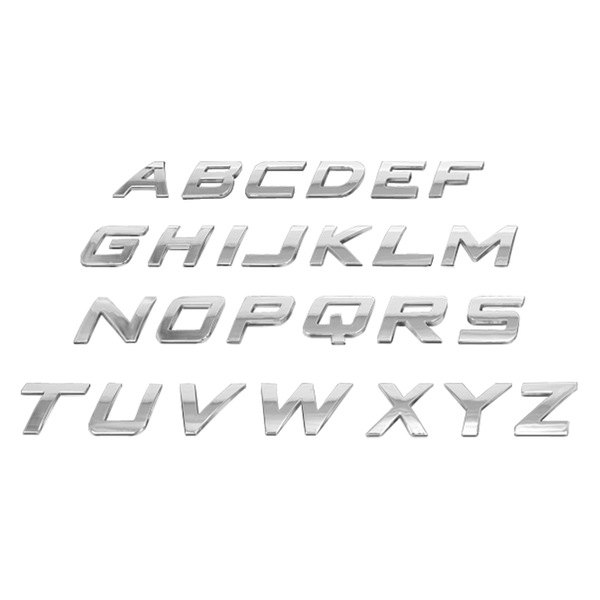 US Speedo® - 3D Chrome Letters and Numbers