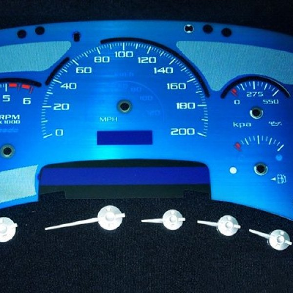US Speedo® - Corvette Stainless Steel Gauge Kit