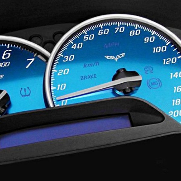 US Speedo® - Corvette C6 Speedometer Gauge Faces Kit