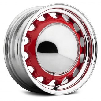 US WHEELS® - ARTILLERY Custom Single Color Powder Coat with Chrome Lip