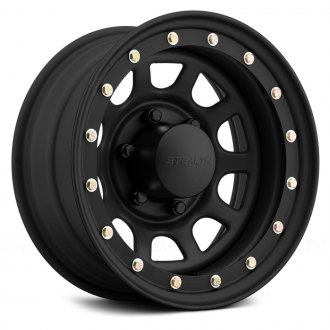 US WHEELS® - STEALTH DAYTONA SIMULATED BEADLOCK (Series 844) Matte Black