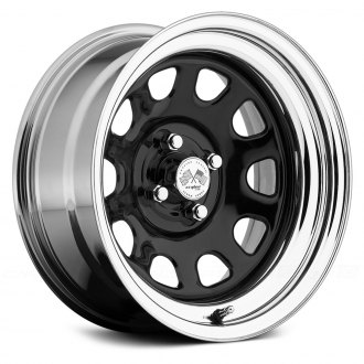 US WHEELS® - DAYTONA (Series 022BC) Black Center with Chrome Lip