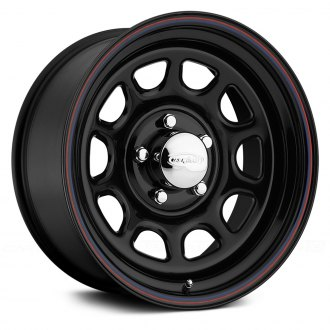 US WHEELS® - DAYTONA Gloss Black with Red and Blue Stripe