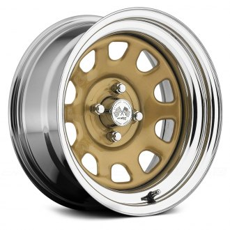 US WHEELS® - DAYTONA (Series 022GC) Gold Center with Chrome Lip