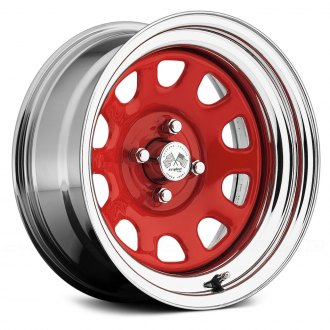 US WHEELS® - DAYTONA (Series 022RC) Red Center with Chrome Lip