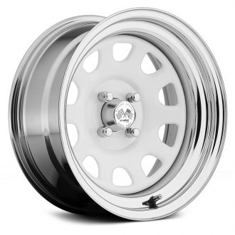 US WHEELS® - DAYTONA (Series 022WC) White Center with Chrome Lip