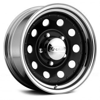 US WHEELS® - MODULAR Gloss Black with Chrome Lip