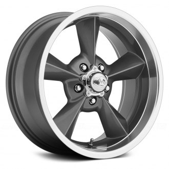 US WHEELS® - RETRO (Series 701) Gunmetal with Machined Lip