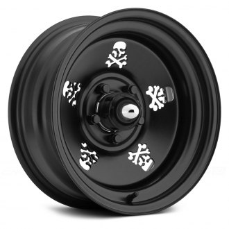 US WHEELS® - SKULL Matte Black