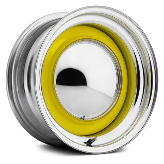 US WHEELS® - SMOOTHIE Custom Single Color Powder Coat with Chrome Lip