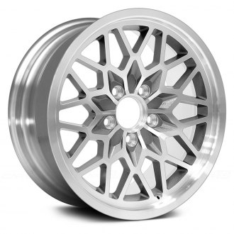 US WHEELS® - SNOWFLAKE (Series 616) Silver with Machined Face and Lip