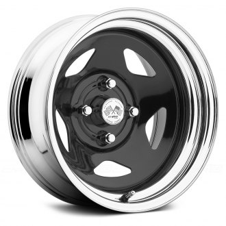 US WHEELS® - STAR (Series 021BC) Black Center with Chrome Lip