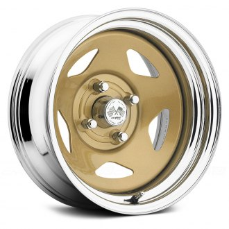 US WHEELS® - STAR (Series 021GC) Gold Center with Chrome Lip