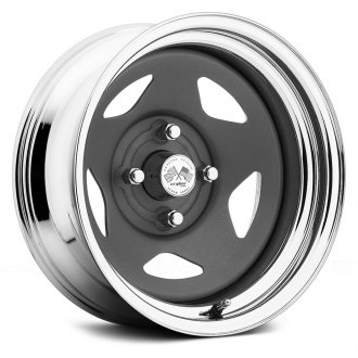 US WHEELS® - STAR (Series 021GMC) Gunmetal Center with Chrome Lip