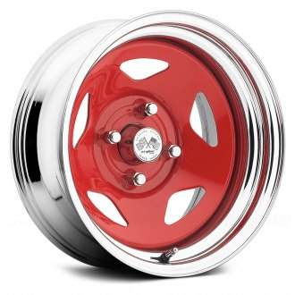 US WHEELS® - STAR (Series 021RC) Red Center with Chrome Lip