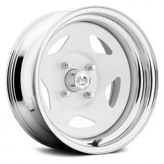 US WHEELS® - STAR (Series 021WC) White Center with Chrome Lip