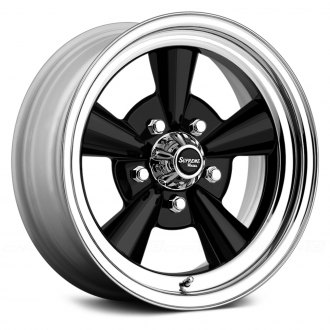 US WHEELS® - SUPREME Black with SS Lip