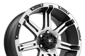 "V-ROCK® - OVERDRIVE Matte Black with Machined Face and Bezel (17"" x 9"", +30 Offset, 6x139.7 Bolt Pattern, 108.1mm Hub)"